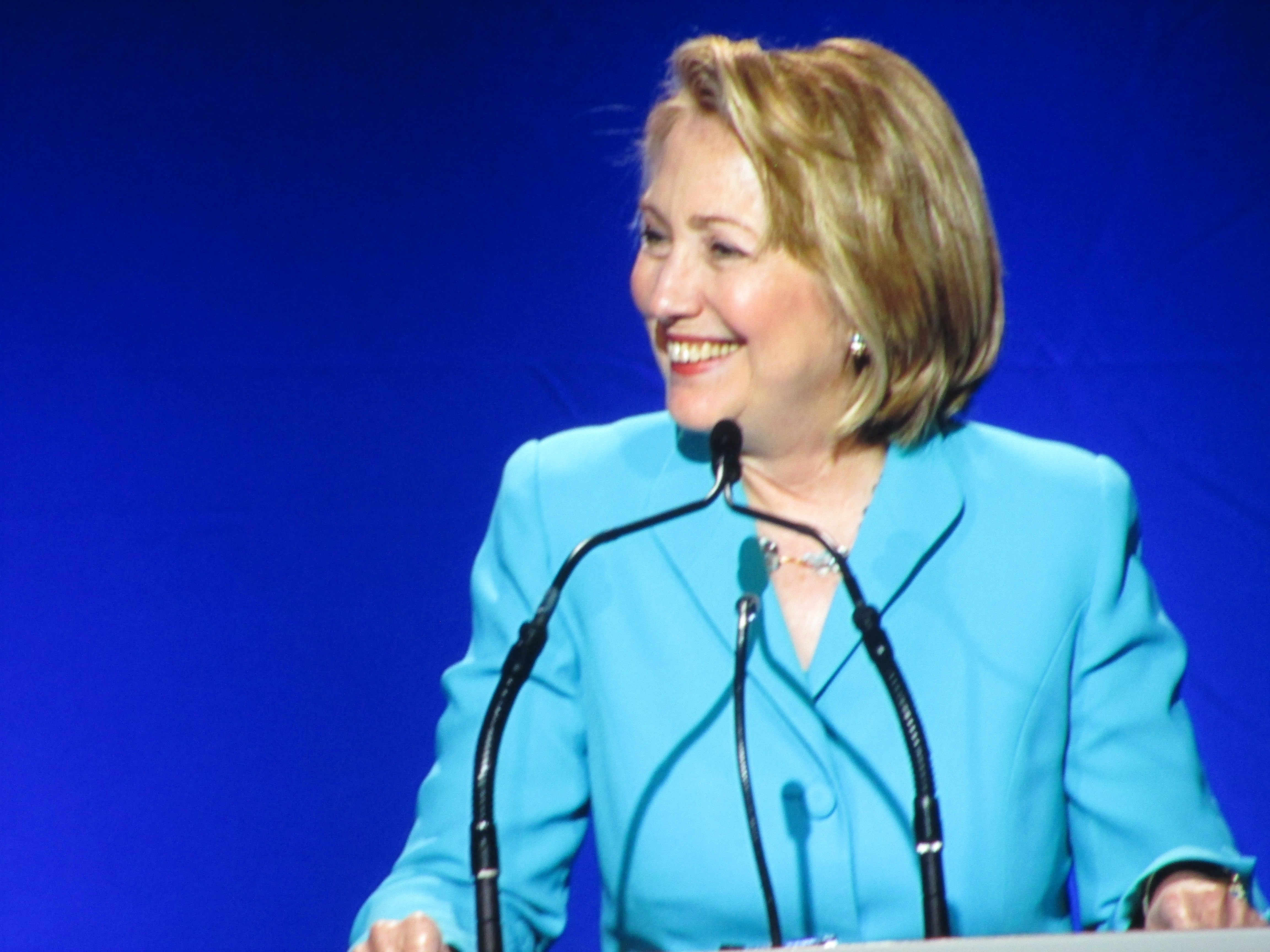 "Hillary Clinton discussing ""Reconnecting McDowell."