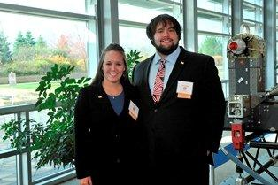 2013 Student Innovators of the Year Racheal Fetty and Caleb Greathouse of Glenville State College