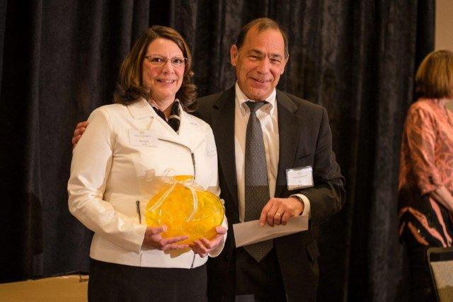 Dr. Marjorie Darrah, eTouchSciences, Receives the StartUp Innovation of the Year award along with TechConnectWV Board Member Guy Peduto