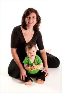 Inventor Isabella Yosuico and her 3 year old son Isaac wearing Mighty Tykes™