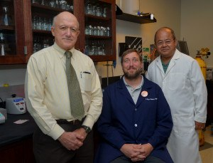 L-to-R: Dr. Richard Niles, Dr. Ryan Withers, Dr. Hongwei Yu.