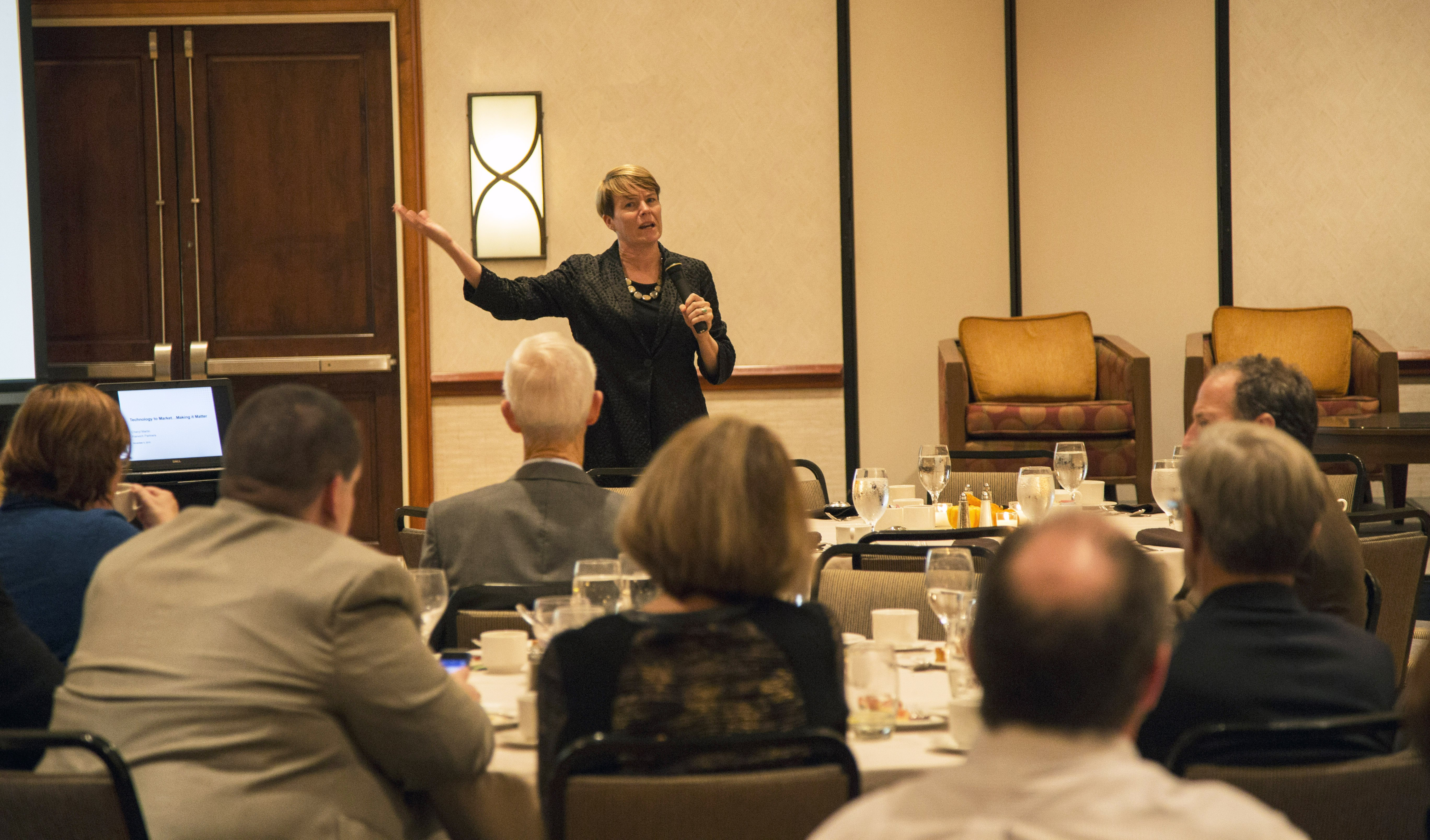 Keynote presenter Cheryl Martin, former interim director of U.S. Department of Energy's Advanced Research Projects Agency-Energy